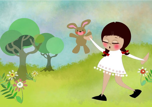 folio childrens-bunny girl