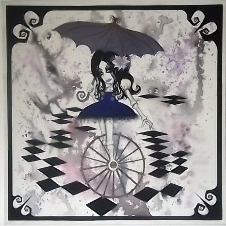 unicycle acrylic